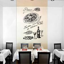ik1023 Wall Decal Sticker pizza ingredients wine Pizzeria Italian Restaurant