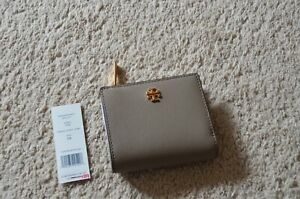 Tory Burch Emerson Mini Wallet French Gray