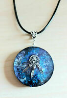 Orgone Orgonite pendant Dreamcatcher, stones and crystals, chakras, yoga.Unisex