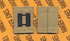US ARMY Captain CPT 0-3 Desert DCU slip on rank patch