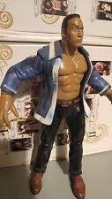 WWE The Rock Jakks Action-Figur 2001 Wrestling WWF Titan Tron Live Blue Jacket