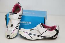 Shimano Women's SH-WT60 Tri Carbon Road Bike Shoes 38 6.5 White Pink Triathlon