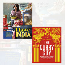 Anjum Anand  & Dan Toombs Collection 2 Books Set(I Love India, The Curry Guy)New
