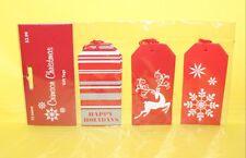 Christmas Holiday Gift Tags  00004000 12 Count Deer Snowflake Red Stripes Sb10