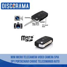 MINI MICRO TELECAMERA VIDEO CAMERA SPIA SPY PORTACHIAVI CHIAVE TELECOMANDO