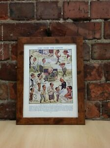 Framed Original Vintage Golf Clubs And Golfers Comic from The Tatler, July 1939