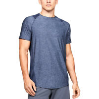 Under Armour MK-1 Mens Exercise Fitness Training T-Shirt Shirt Tee Blue - L