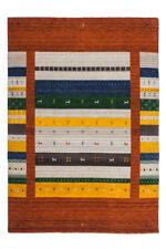 Tapis rouge pour la maison en 100% laine, 200 cm x 290 cm