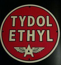 TYDOL Ethyl...Flying A  Gasoline / Oil Gas Porcelain Advertising sign