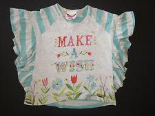 Paper wings girl organic cotton flutter bat-wing top shirt tee make a wish 10 12