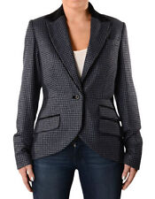 Wool Blend Houndstooth Casual Coats & Jackets for Women