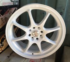 Racing Hart CP8 18 X 7.5 ET 42 4:114.3 White Set Of 4 Wheels Made In Japan