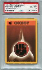 Pokemon Card Brock's Trainer Deck A Fighting Energy Base 97/102, PSA 10 Gem Mint