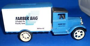 Ertl Die-Cast Metal Bank, Farber Bag Supply Co. Peosta, IA Edition #2