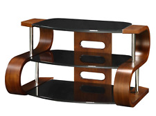 "Jual Furnishings Florence Curved Wood Walnut TV Stand 32-42"" JF203-850 85cm Wide"