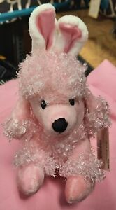 New Dan Dee Pink Plush Poodle Dog/Bunny Rabbit Ears Collectors Choice Toy Puppy