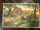 1963 Farm / 1965 City Picture, Fold Up Vintage Scenery Poster, Two Sided