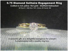 Diamond Engagement Solitaire Natural Fine Rings