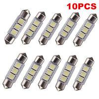 10PCS 12V White 36MM 3 LED 5050 SMD Festoon Dome Car Light Interior Lamp Bulb
