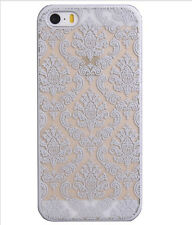 Duro caso cubierta tipo damasco Wedding Bridal Lace para Apple iPhone 5 5s 5c SE