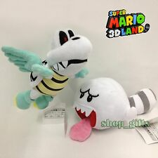 2X New Super Mario Bros 3D World Plush Flying Winged Dry Bones Tail Boo Soft Toy
