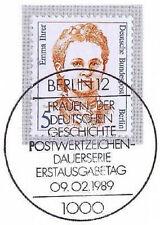 Berlin 1989: Emma Ihrer! Frauen Nr 833 mit sauberem Ersttags-Sonderstempel! 1A