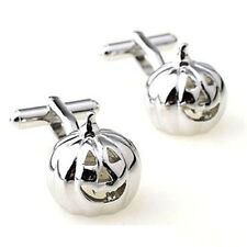 Pumpkin Cufflinks Halloween Ghost Jack O Lantern+ Box & Cleaner