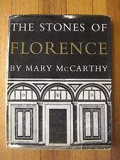 The Stones of Florence-1st Ed/Illus. Mary McCarthy- Harcourt Brace,NY/Swiss-1959