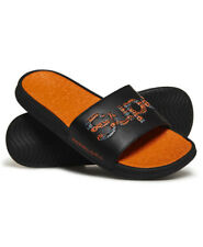 Superdry Mens Crewe Repeat Logo Sliders
