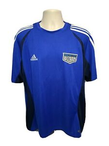 2008 MLS Adidas Kansas City Wizards Mens Large Blue Soccer Jersey
