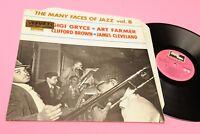 Gigi Gryce Quartet LP The Many Faces Of Jazz Orig Italy '60 EX Laminated Cover