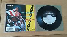 "Survivor Burning Heart Eye Of The Tiger Japan 7"" Single Insert Classic Rock"