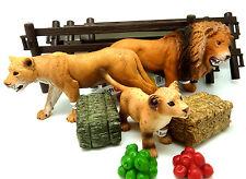 1332) Schleich Zootiere Set Raubtiere mit Zaun Schleichtier Schleichtiere