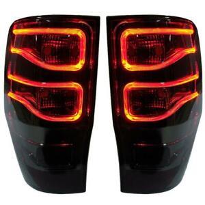For Ford Ranger T6 MK LED Pickup Xlt Wildtrak Tail Lamp Rear Light Red Smoke