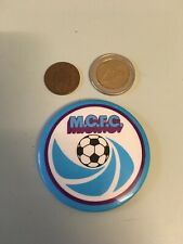 RARE Man City MCFC TIN BADGE pin badge Manchester FC1970s 1980s Citizens