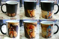 Dragon Ball Z Goku Vegeta Taza Heat Reactive Color Change Ceramic Cup Coffee Mug