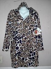 APPLE BOTTOMS WOMEN'S PLUS SIZE ANIMAL PRINT LONG SLEEVE HOODIE DRESS Sz 2X NWT