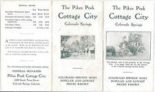 Brochure, Pikes Peak Cottage City, Colorado Springs, c1920