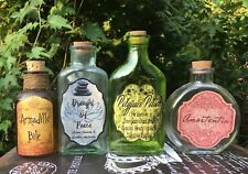 Potion Bottle Labels Halloween Harry Potter Party Prop Apothecary DIY Craft