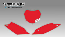KIT ADESIVI GRAFICHE TABELLE RED per moto SX 250 2015 2016 DECALS PLATES KIT