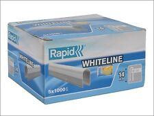 Rapid - 36/14 14mm DP x 5m White Staples Box 5 x 1000