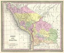 1854 Mitchell Map of Peru and Bolivia