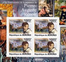 Pierre-Auguste RENOIR Artist & Painter / Art Stamp Sheet #3 of 5 (2011 Burundi)