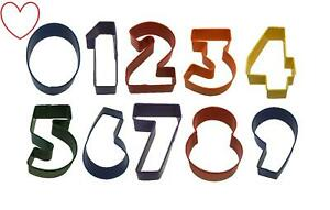 Cookie Cutters Number Shape Kitchen Tools Home Baking