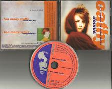 CATHY DENNIS Too  Many walls w/ RARE RADIO MIX & ACAPPELLA PROMO DJ CD Single