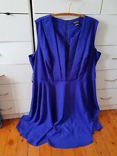CITY CHIC Maxi Dress Purple Blue Plus Size L 18 20 C6