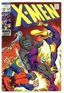 X-Men 53 1st Barry Smith Comic Book Work! Blastaar! 1969 Marvel Comics B877