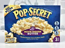 Pop Secret Movie Theater Butter Microwave Popcorn 9.6 oz