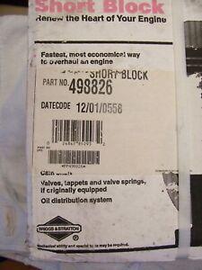 NOS Briggs & Stratton OEM Vertical Short Block  498826 799983 ( 1200 Series ? )