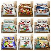Mickey Christmas Duvet Cover Set Twin/Full/Queen/King Size Bedding Set